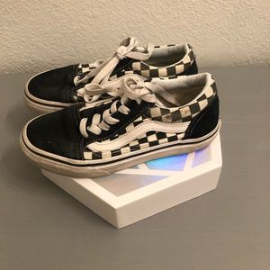 Vans checker lace up used size 1
